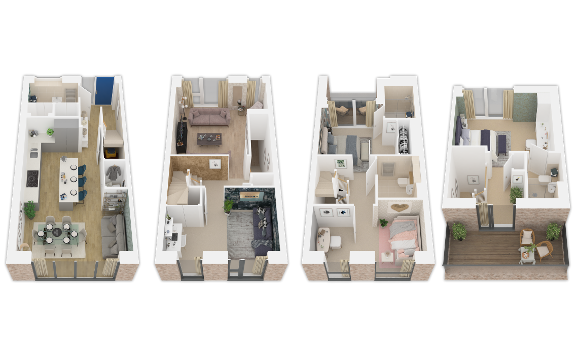 floorplan/Houses/townhouse-3d
