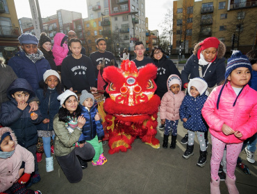 Chinese New Year in the Village Square at Greenwich Millennium Village
