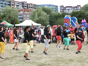 Summer Fayre in Southern Park at Greenwich Millennium Village