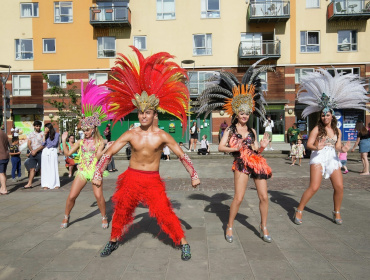 Carnival event in the Village Square at Greenwich Millennium Village
