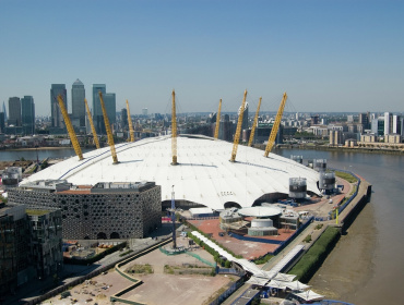 The O2, just under a mile from Greenwich Millennium Village