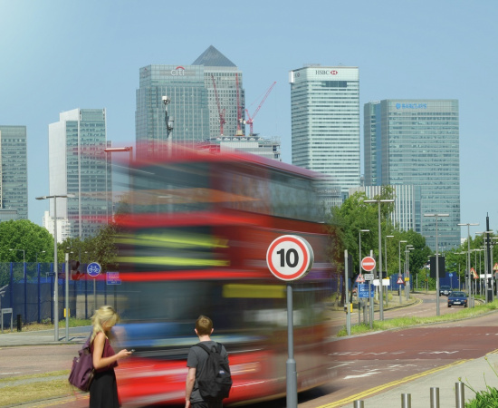 Bus in North Greenwich